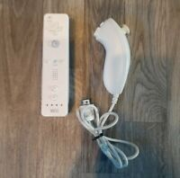 Nintendo Wii Remote Video Game controller W/ Nunchuck Cleaned & Tested NES