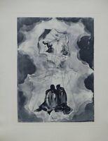 Salvador DALI : Extase de Dante - GRAVURE original signée #DIVINE COMEDIE