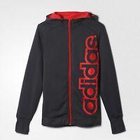 adidas boys dark grey zip up hoody. Hoodie. Sweat top. Various sizes!.
