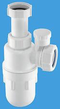 "McAlpine 1 1/4"" Anti-syphon Adjustable inlet bottle trap A10AV    - BRAND NEW !!"