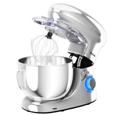 6.3Qt Tilt-Head Food Stand Electric Mixer 6 Speed w/Stainless Steel Bowl Silver
