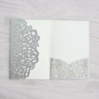100PCS Personalized Laser Cut Printing Wedding Invitation Cards with Envelopes