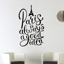 Paris alwaysgood idea Torre Eiffel Love arte de pared calcomanía Decoración pegatina de vinilo