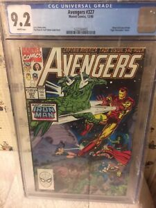 """Avengers (1963 1st Series) #327 CGC 9.2 1st Appearance''s of """"XA"""", """"NGH"""" AND ORM"""