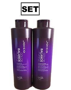 Joico Colour Balance Purple and Conditioner 1L/1000ml/1 Litre SET
