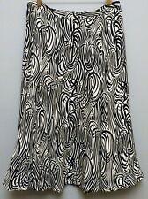 JONES NEW YORK: Vintage Black White Swirl Silk Lined Below Knee, Size 4