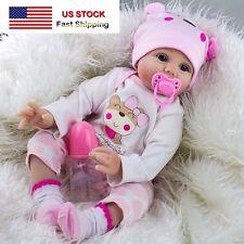 22 Soft Silicone Vinyl Handmade Baby Girl Doll Lifelike Reborn -Ship from USA
