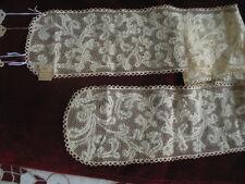 Vtg Antique Italian Lace Milanese Punto Milano Lappet Handmade 18th C 1700s