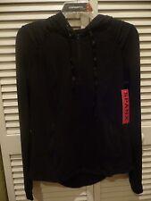 NWT SPANX Silhouette Jacket 1258 Athletic Black MED $128 Yoga Hood slimming NICE