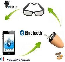 Lunettes Mini Oreillette Ecouteur Invisible Espion Bluetooth Induction Telephone