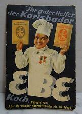 Antikes Karlsbader EBE Koch Süssspeisen Rezepte Buch um 1900 - 20