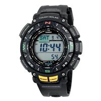Casio Men's PAG240-1CR Pathfinder Solar Power Triple Sensor Sport Watch