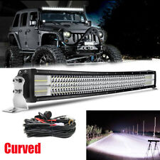 Quad ROW 42''INCH CURVED OFFROAD 4x4 LED LIGHT BAR COMBO FLOOD SPOT /w Wire