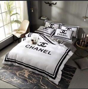 CHANEL Bedding Set, Duvet Cover, Pillowcases, Bed Sheet