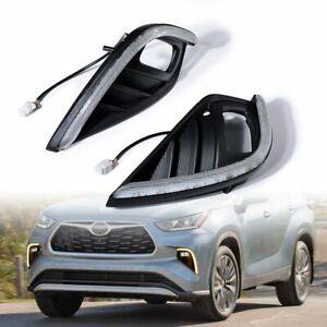 LED Fog Light For Toyota Highlander 2020-2021 Daytime Running Light Turn Signal