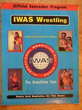 1993 IWAS WRESTLING MAGAZINE VINTAGE PROGRAM OLD WWF WRESTLER PHOTOS TERRY FUNK