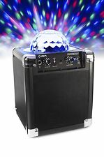 Bluetooth Portable Party Speaker Color Lights Disco Ball AUX MIC Inputs Karaoke