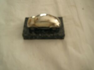 VW VOLKSWAGON BEETLE Metal/Marble CAR MINIATURE PAPERWEIGHT COLLECTIBLE-RARE