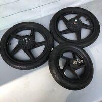 3 BOB B.O.B. Revolution Stroller Jogger Replacement Wheels All 3 Wheels Tires
