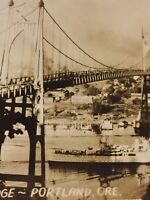 Postcard, St. John's Bridge Portland Oregon, USA, Ship, Boat, Vintage P15