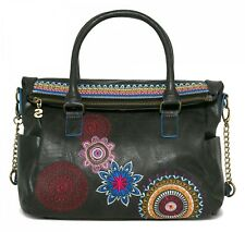 Desigual Bols Loverty Amber Handtasche Umhängetasche Tasche Negro Schwarz