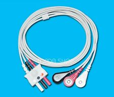 1pc NEW Split 3Lead ECG EKG Cable Button snap For Drager/Siemens ECG monitor