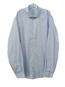 Stafford 365 Mens Big & Tall Fit Dress Shirt 18 1/2 38/39 All-Temp Comfort Plaid