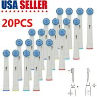 Pro 20PCS Replacement Electric Tooth Brush Heads Kit For Braun Oral B Soft Brush