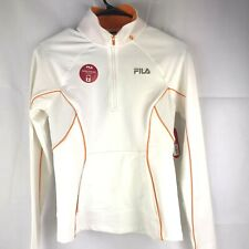 athletic jacket by Fila size xs white and orange zip up Brand new w tags! $45