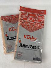 4 VACUUM BAGS, GENUINE KIRBY-STYLE No 2, Part 19068103 New Bag And One Bag