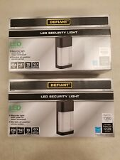 (Lot of 2) Defiant LED Outdoor Dusk to Dawn Area Flood Wall Pack Light