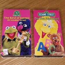 Sesame Street - The Best of Kermit the Frog (VHS, 1998) + Do the Alphabet Lot VG
