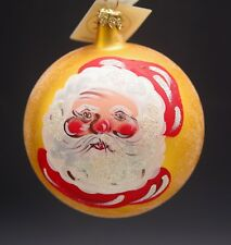 "Christopher Radko 1996 Smilin' Santa Ball Christmas Ornament Mwt 4.5"" 96-172-0"