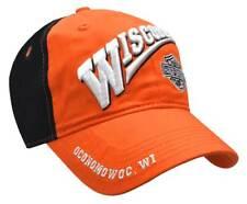 Wisconsin Harley-Davidson Bar & Shield Baseball Cap, Orange & Black BCCUS0302