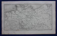 Original antique map, NORTH GERMANY, PRUSSIA, POLAND, DANZIG, Duvotenay, 1859