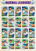 SCOTT #4080-83     US SOUVENIR  SHEET    BASEBALL  SLUGGERS  39 CENT         MNH