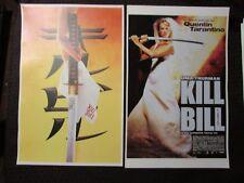 """Kill Bill 1 & 2 11x17"""" Mini Movie Poster Vf- 7.5 Lot of 2 Quentin Tarantino"""