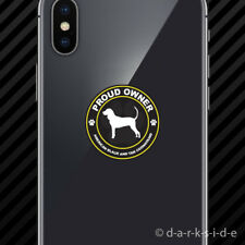 (2x) Proud Owner American Black and Tan Coonhound Cell Phone Sticker dog pet
