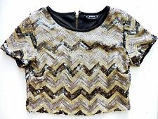 Blouse Sequin Party Scoop Neck Tops & Shirts for Women