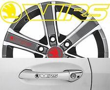 4 x Türgriff- Felgen Aufkleber Skoda VRS 003 # 1598