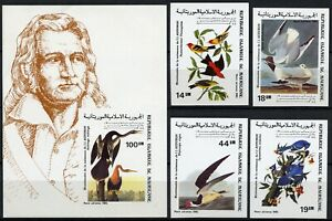Mauretanien 1985 Audubon Vögel Gemälde 852-855 B Block 61 B Imperf MNH / 579