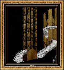 ERTE Original Gouache Painting Art Deco Set Design Signed Romain Tirtoff Artwork