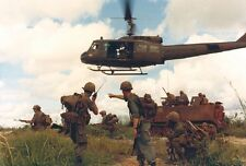 """U.S. Soldiers Huey Helicopter M113 Armored Vehicle 13""""x19"""" Vietnam War Poster166"""