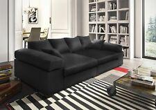 Big Sofa Couchgarnitur Megasofa Riesensofa AREZZO - Kunstleder Schwarz