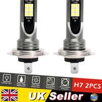 2PCS H7 200W Car LED Headlight Fog Bulbs CREE Kit 6000K HID Canbus Error Free UK