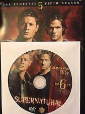 Supernatural - Season 5, Disc 6 REPLACEMENT DISC (not full season)