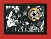 Stevie Ray Vaughan Say What Poster Framed Gold 45 Record Display