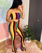 Jamaican  Colour,  Stripe Wide leg Pants set, SIZE'S..12-14