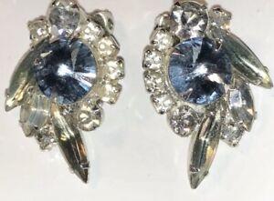 vintage rhinestone earring rare