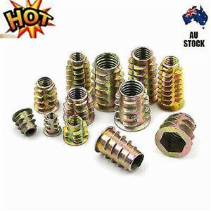 10Pcs M4 M5 M6 M8 M10 Zinc Hex Drive Head Screw Insert Nut Threaded For WooE I-
